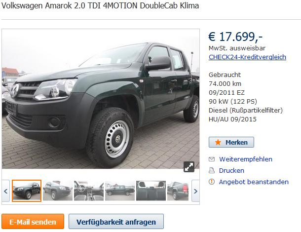 Find and Buy Volkswagen Amarok