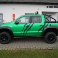 VW Amarok in frozen green